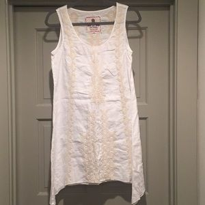 Johnny Was Embroidered Linen Tunic/Dress